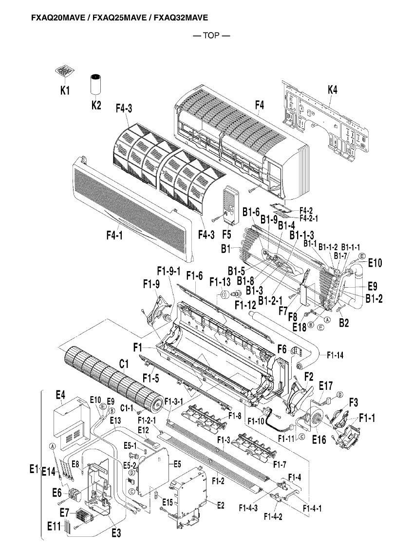 daikin air conditioning spare part 2230054 printed circuit